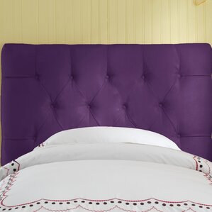 Premier Tufted Microsuede Upholstered Headboard by Skyline Furniture