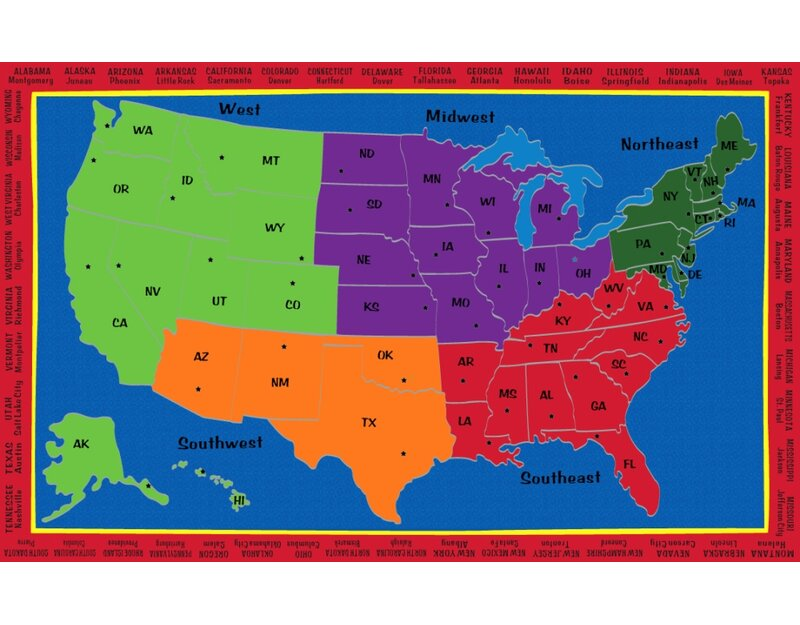 Zoomie Kids Portal The United States Of America Blue Green Orange