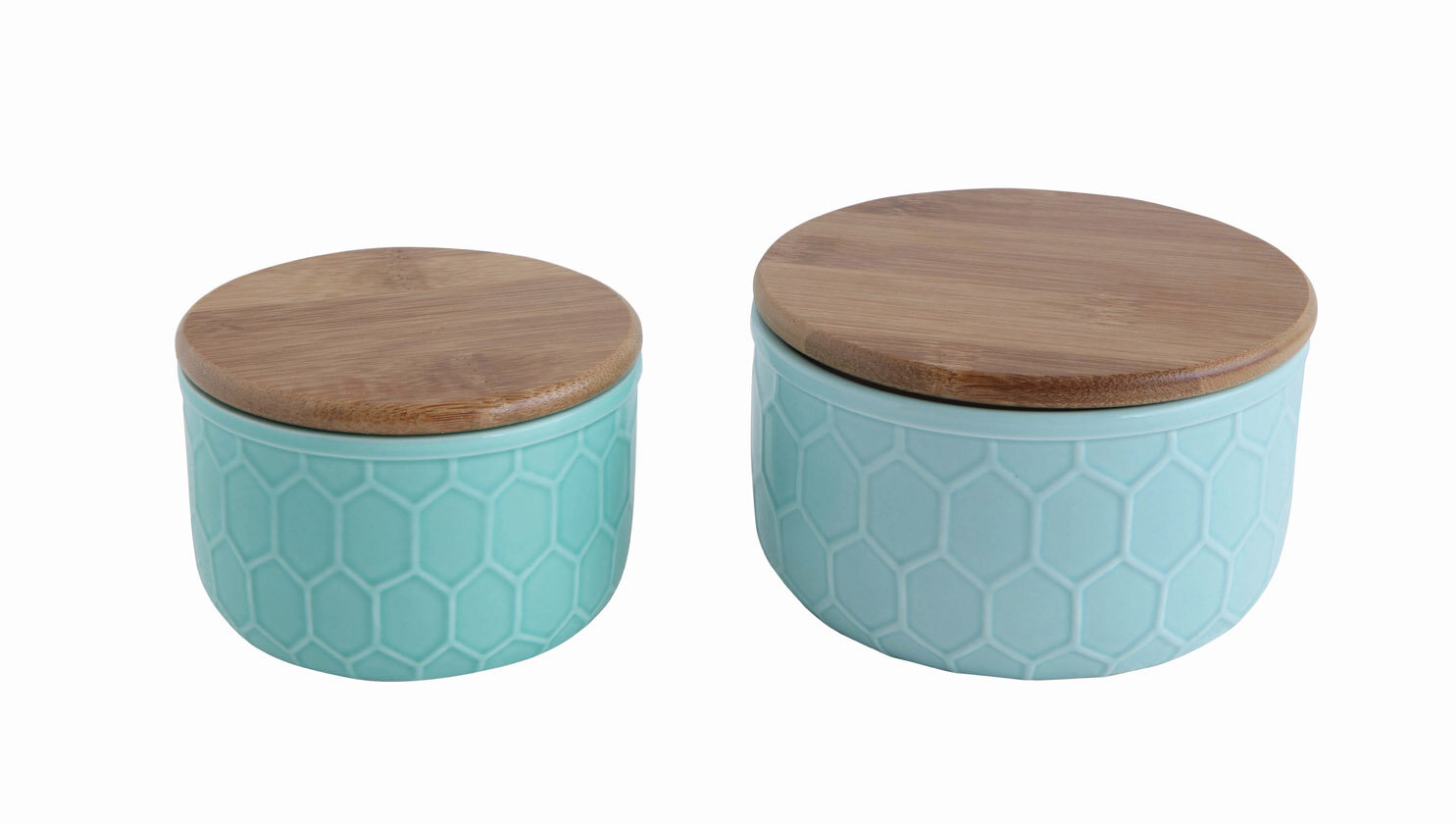Mint Pantry Bamboo Lid 3 Piece Kitchen Canister set | Wayfair