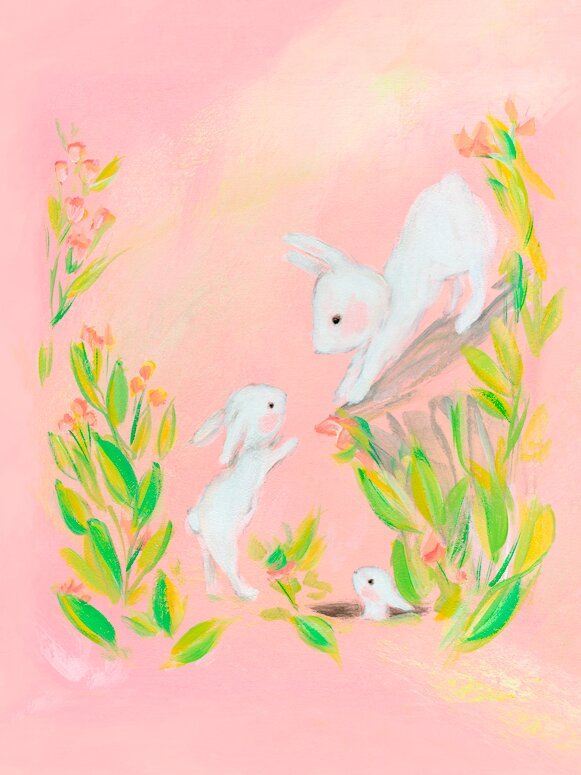 Viv + Rae Kitty Bunny Family by Allyn Howard Stretched Canvas Wall ...