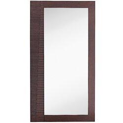 Majestic Mirror Large Rectangular Modern Dark Brown Full Length