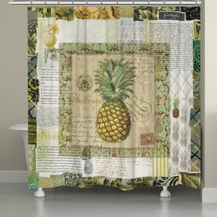 Pineapple Scrapbook Shower Curtain