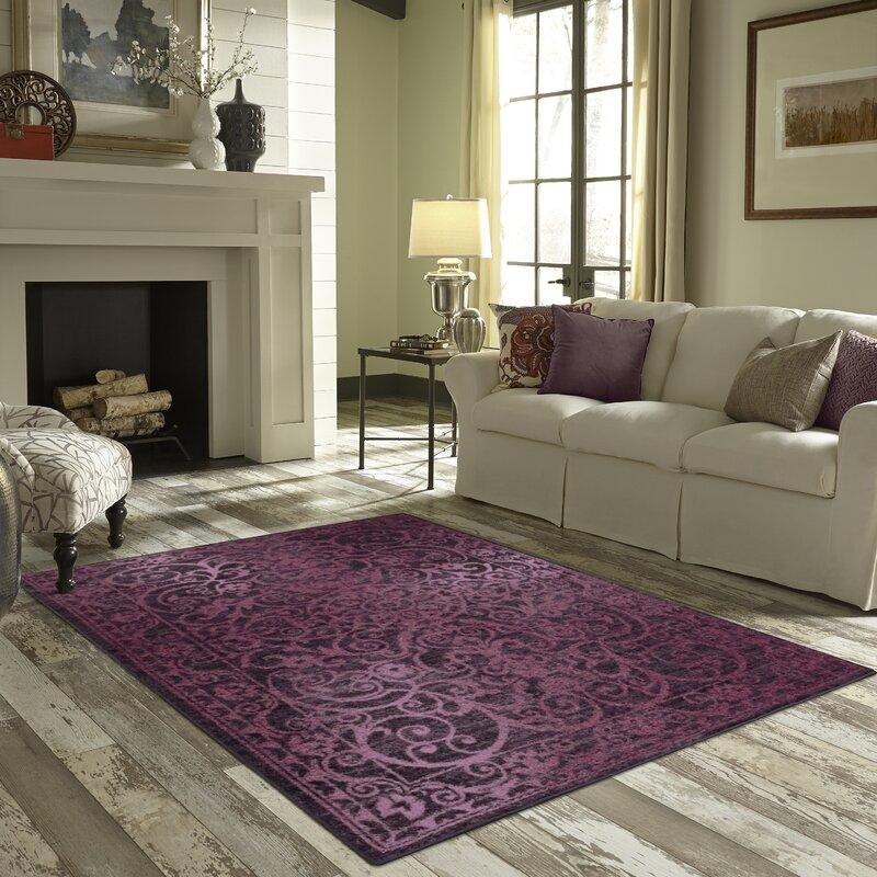 Living Room Rug maples rugs hudson purple area rug & reviews | wayfair