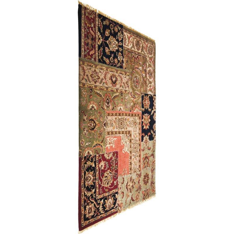 kare design handgewebter teppich patchwork in braun beige. Black Bedroom Furniture Sets. Home Design Ideas