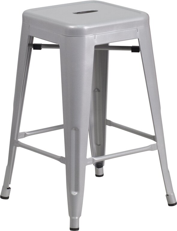 Lompoc 24  Bar Stool  sc 1 st  Wayfair : white metal bar stools - islam-shia.org