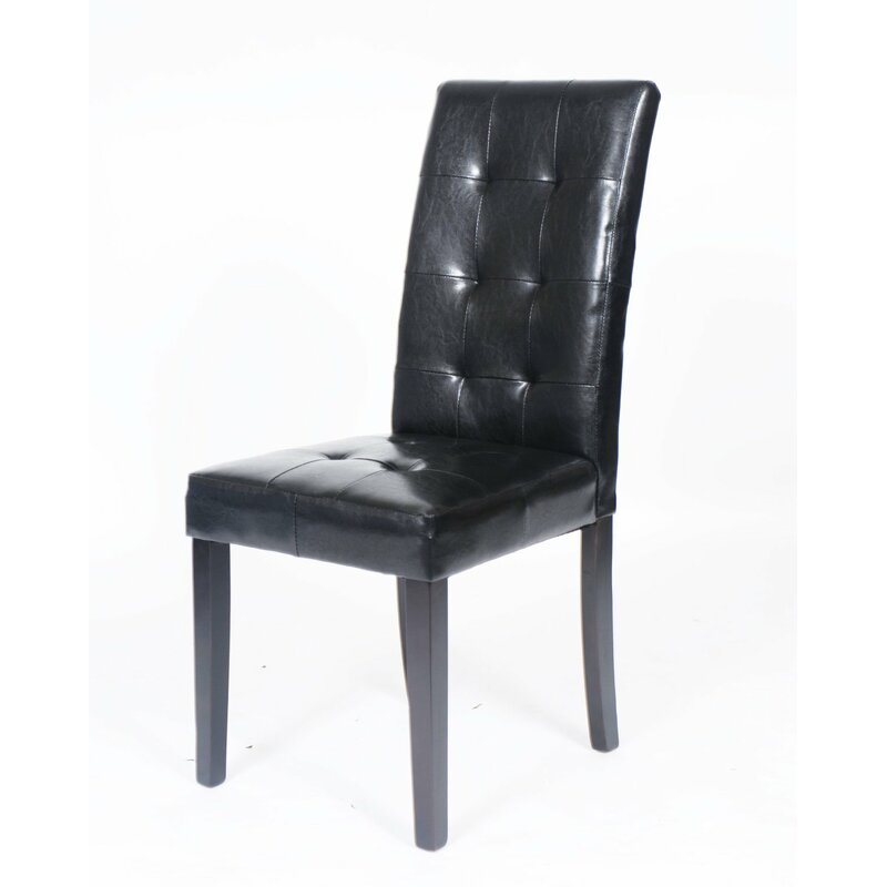 e82430a5a518f Latitude Run Hinton Charterhouse Leather Upholstered Dining Chair ...