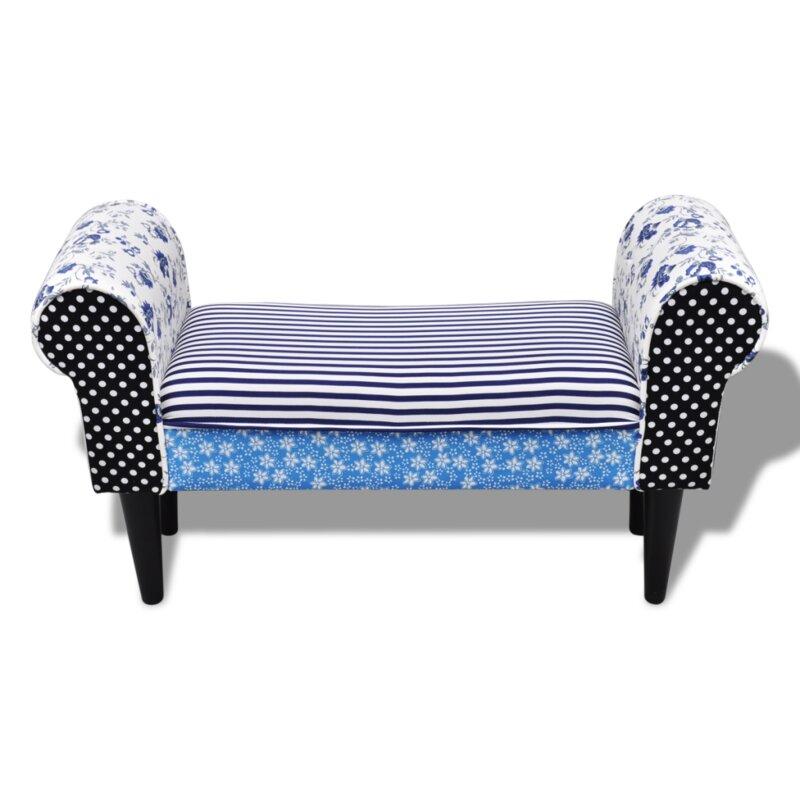 home etc gepolsterte schlafzimmerbank aus holz. Black Bedroom Furniture Sets. Home Design Ideas