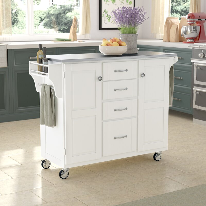 Etonnant Adelle A Cart Kitchen Island With Stainless Steel Top