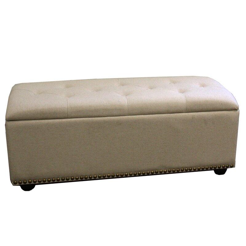 Bedroom 18 Storage Bench Bedroom Accent Furniture Ideas: ORE Furniture Upholstered Storage Bedroom Bench With