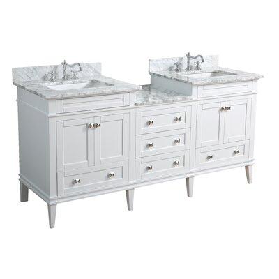 "Bathroom Vanities Double kbc eleanor 72"" double bathroom vanity set & reviews | wayfair"