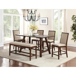 Chandeleur 6 Piece Counter Height Dining Set