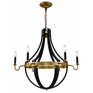 6 light candle chandelier wayfair karteek 6 light led candle style chandelier mozeypictures Image collections