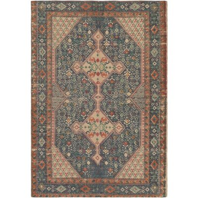 Three Posts Middlesbrough Hand-Woven Neutral/Blue Area Rug Rug Size: Rectangle 8' x 10'