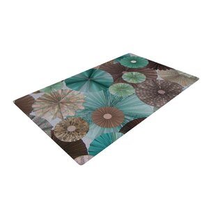 Heidi Jennings Blossoming Brown/Blue Area Rug
