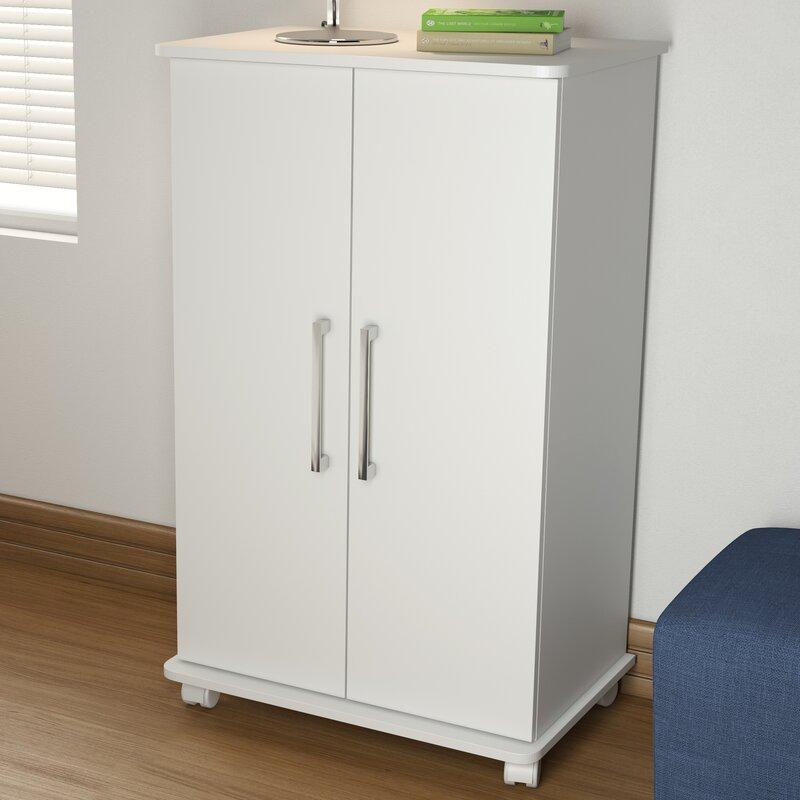Rebrilliant Mobile 18-Pair Shoe Storage Cabinet & Reviews   Wayfair