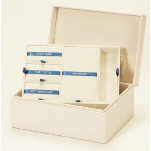 Aufbewahrungsbox Baby Memory aus Leder von Mele&Co