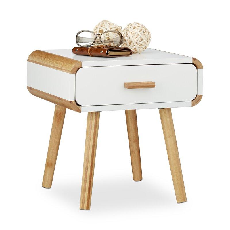 relaxdays nachttisch mit 1 schublade bewertungen. Black Bedroom Furniture Sets. Home Design Ideas