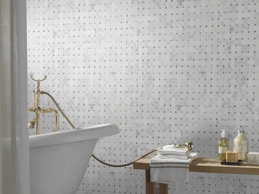 Msi calacatta cressa basketweave honed marble mosaic tile in white calacatta cressa basketweave honed marble mosaic tile in white dailygadgetfo Choice Image