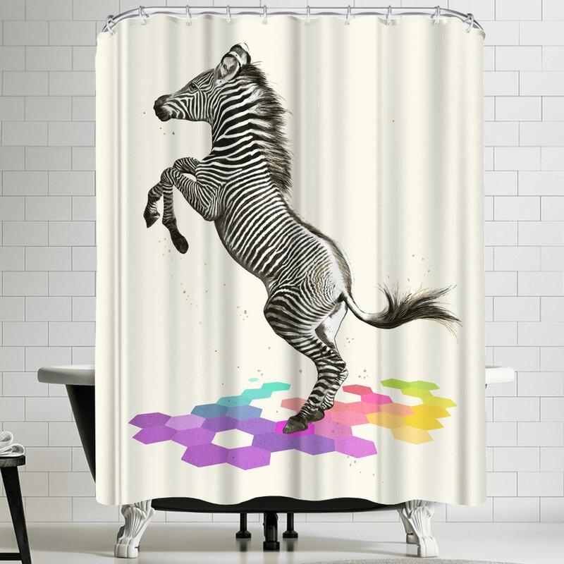 Laura Graves Zebra Shower Curtain