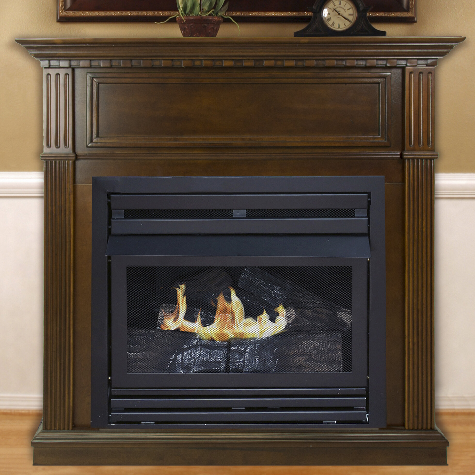 Darby home co shawnda vent free natural gas fireplace wayfair