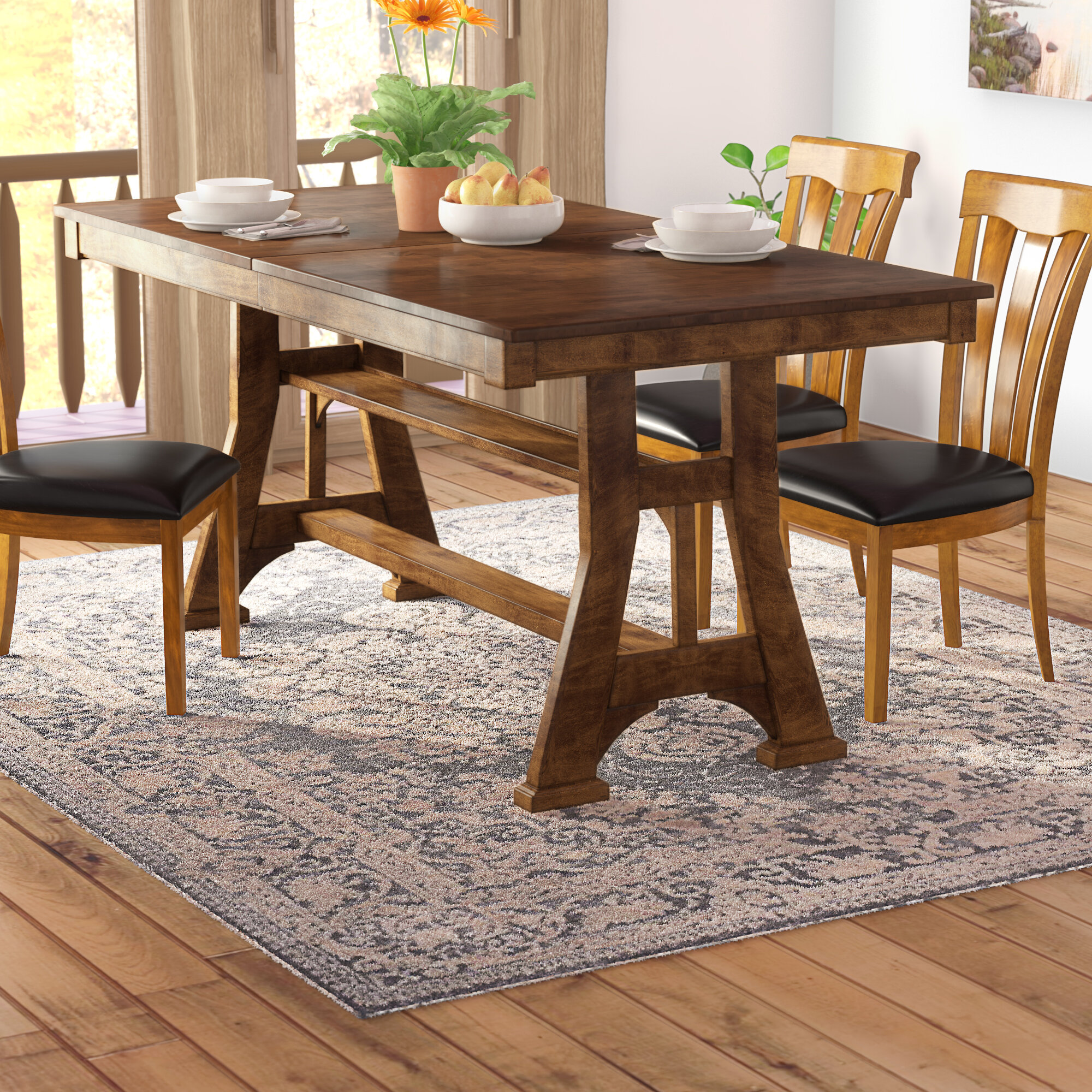 Hayashi counter height extendable dining table reviews birch lane