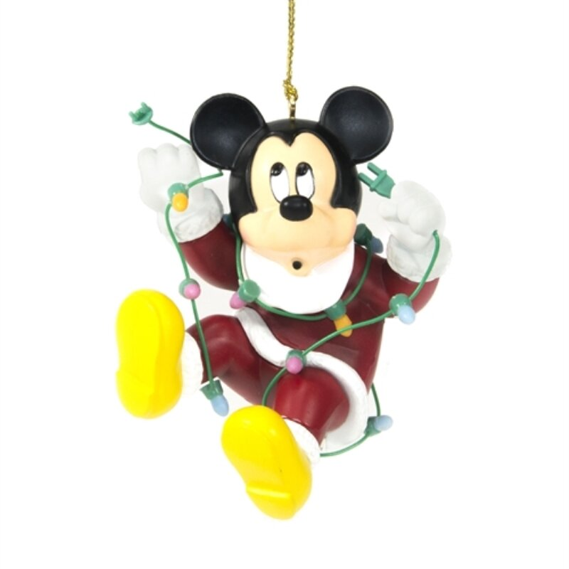 aleko disney mickey mouse christmas ornament hanging figurine wayfair - Mickey Mouse Christmas Decorations