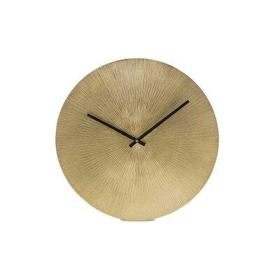 Bloomsbury Market Shiela 15 Wall Clock Color: Brass Antique
