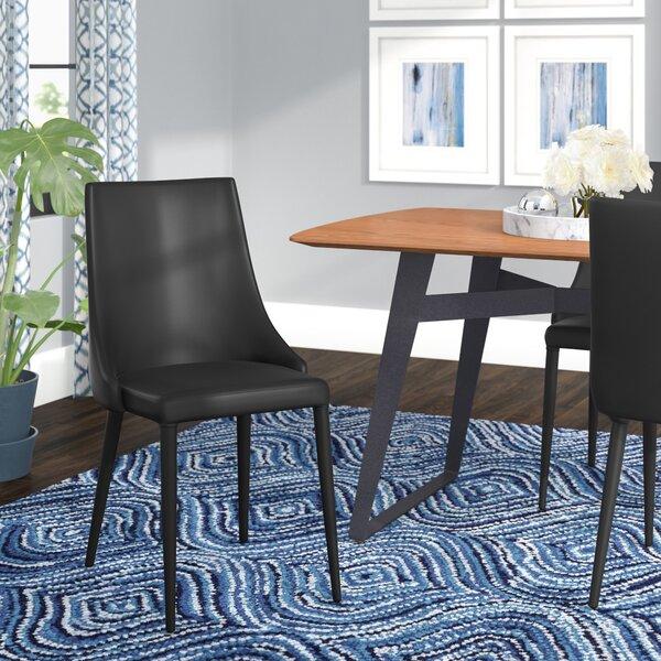 Saddle Leather Dining Chair | Wayfair