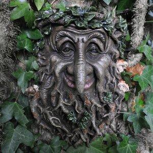 Mystical Treant Man Wall Garden Plaque