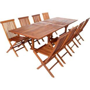 teak patio set. Humphrey 9 Piece Teak Dining Set Patio