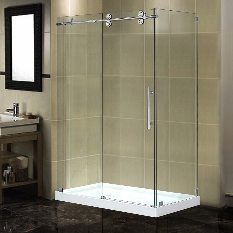 Aston langham 48 x 35 x 775 completely frameless sliding shower langham 48 x 35 x 775 completely frameless sliding shower enclosure eventshaper