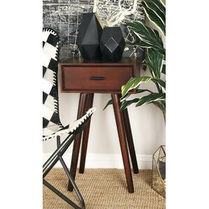 Wood End Table With Storage by..