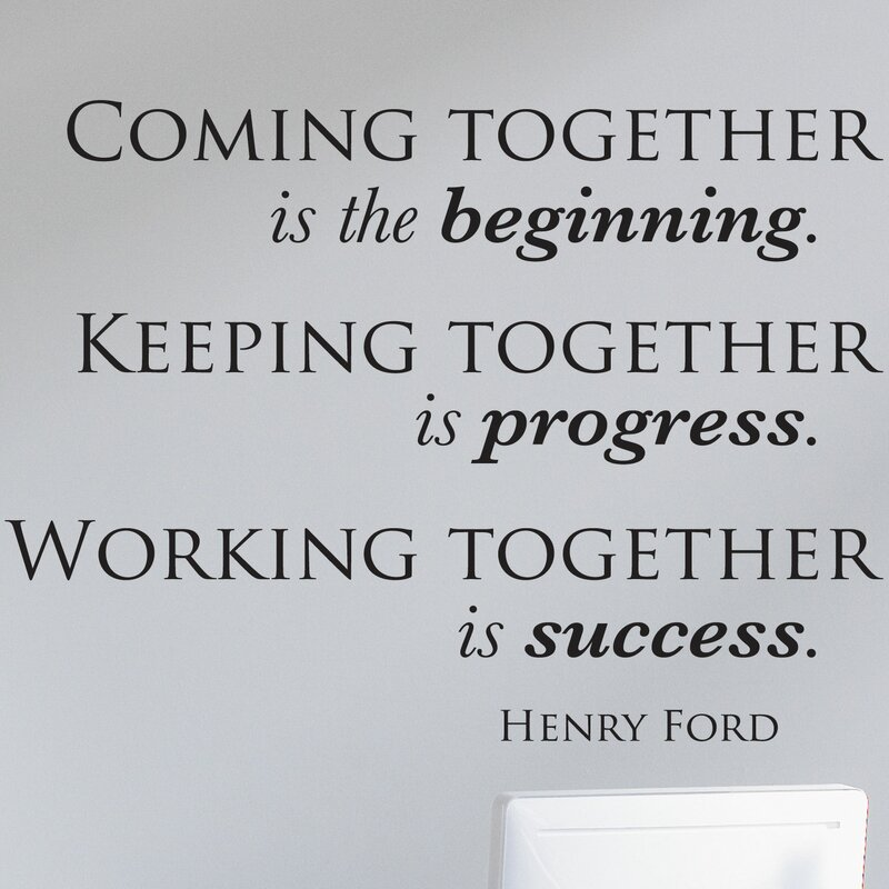 Belvedere Designs LLC Coming Keeping Working Together Wall Quotes Interesting Together Quotes