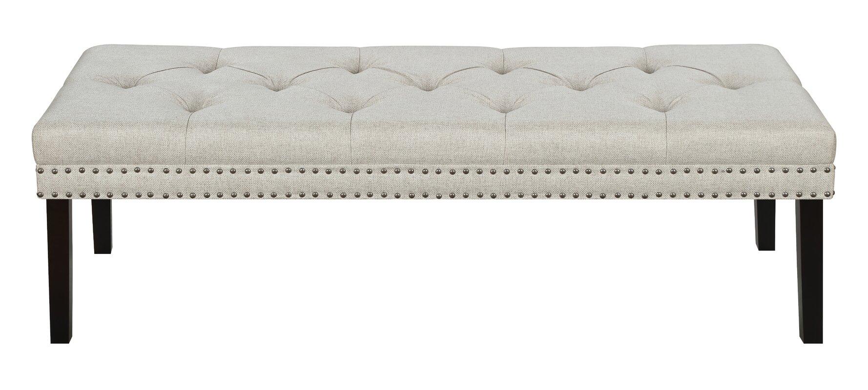 charlton home roxie upholstered bedroom bench  reviews  wayfair - defaultname