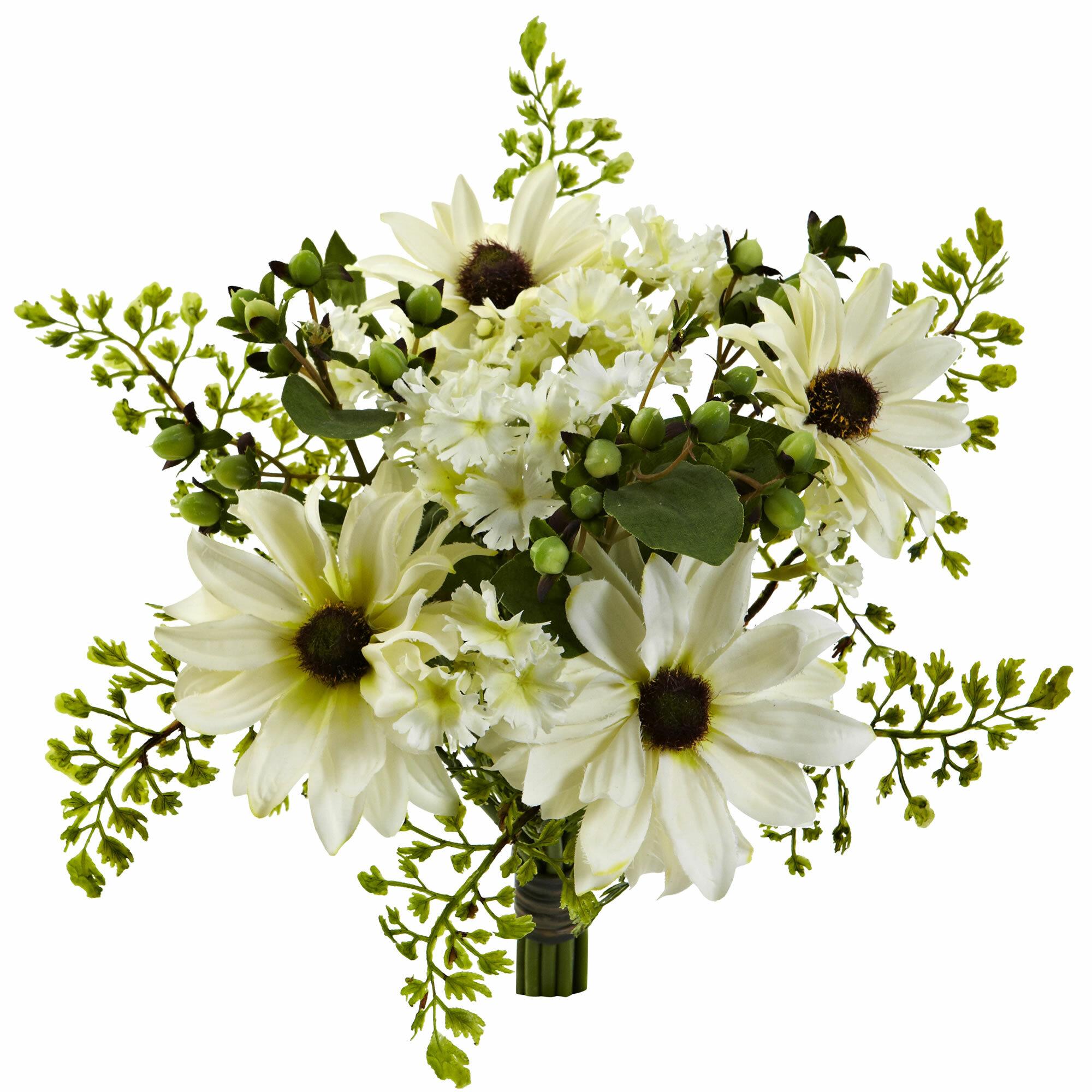 August grove daisy floral arrangement wayfair izmirmasajfo