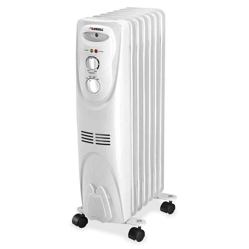 Lorell 1 500 Watt Oil Filled Radiator Space Heater