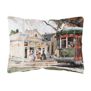 New Orleans Streetcar Indoor/Outdoor Throw Pillow