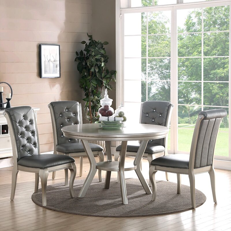 infini furnishings adele 5 piece dining set & reviews | wayfair