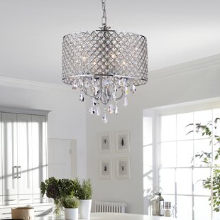Von 4 Light Crystal Chandelier