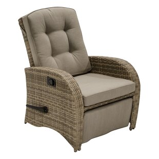 Lemen Reclining Club Patio Chair With Cushion