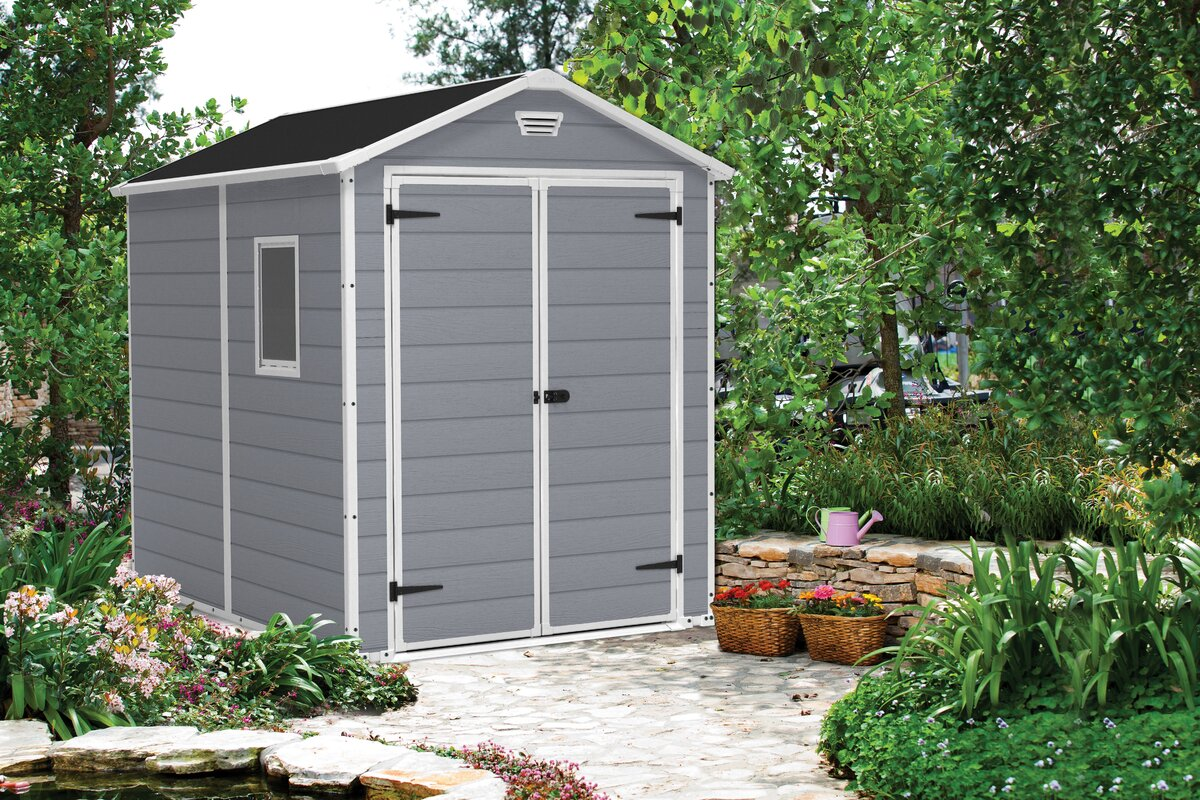 Keter Manor 6 Ft W X 7 Ft 5 In D Plastic Storage Shed