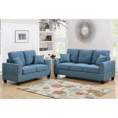 Blue Stationary Sofa Living Room Sets You Ll Love Wayfair