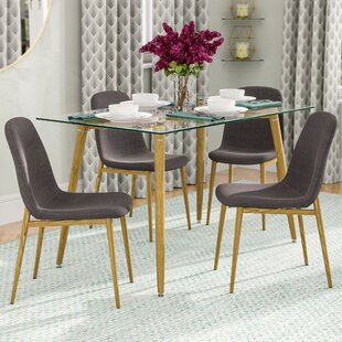 Goodman Modern Glass 5 Piece Dining Set
