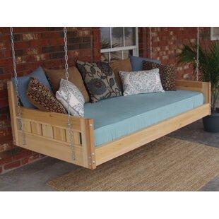Thacker Cedar Country Style Hanging Daybed Swing  sc 1 st  Wayfair & Outdoor Hanging Bed Swings | Wayfair