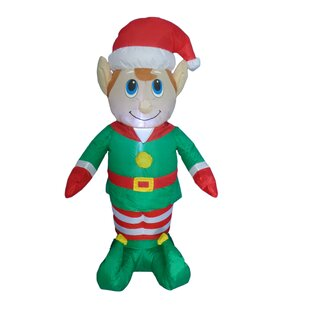 christmas inflatable elf