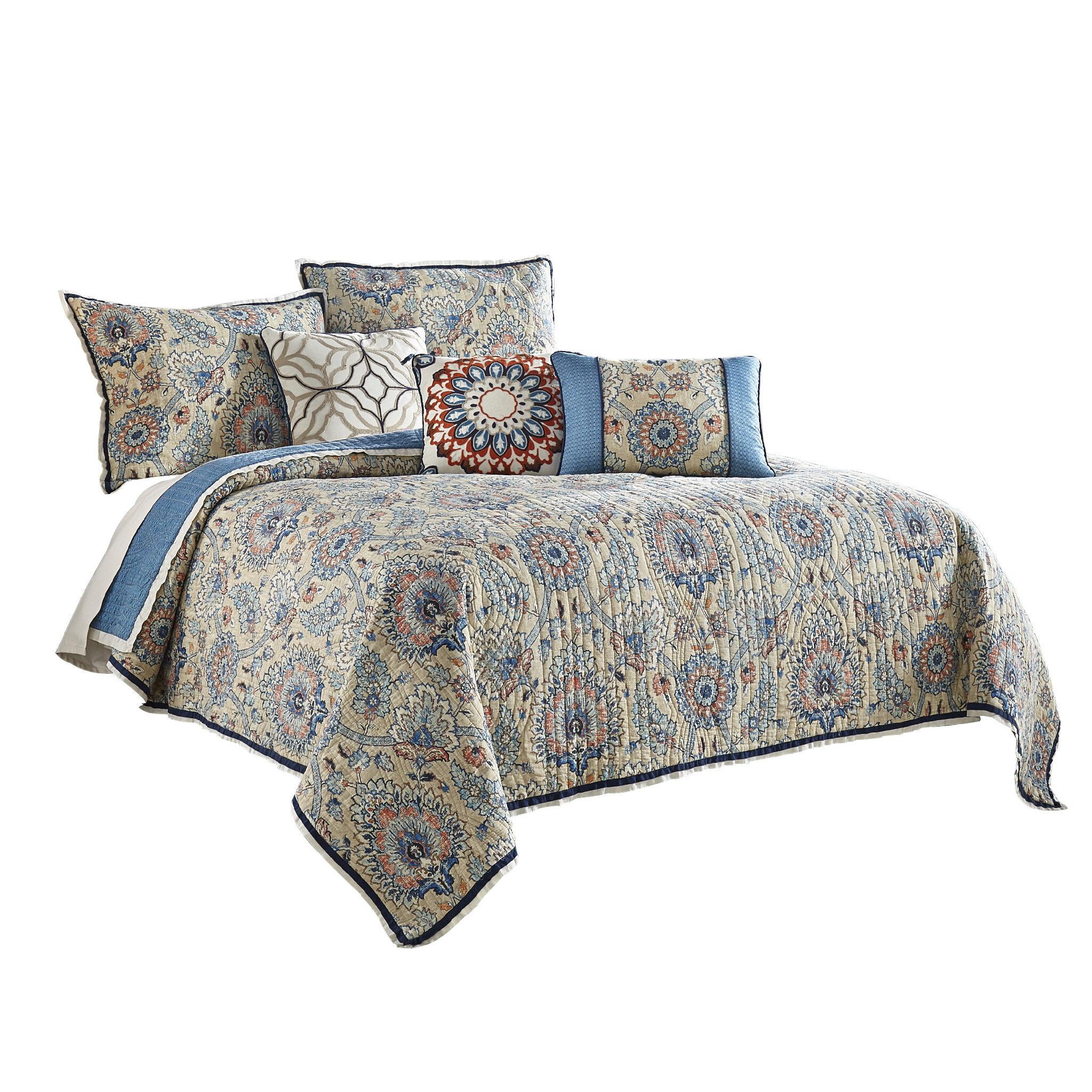 Waverly Castleford 100 Cotton Reversible Quilt Set Wayfair