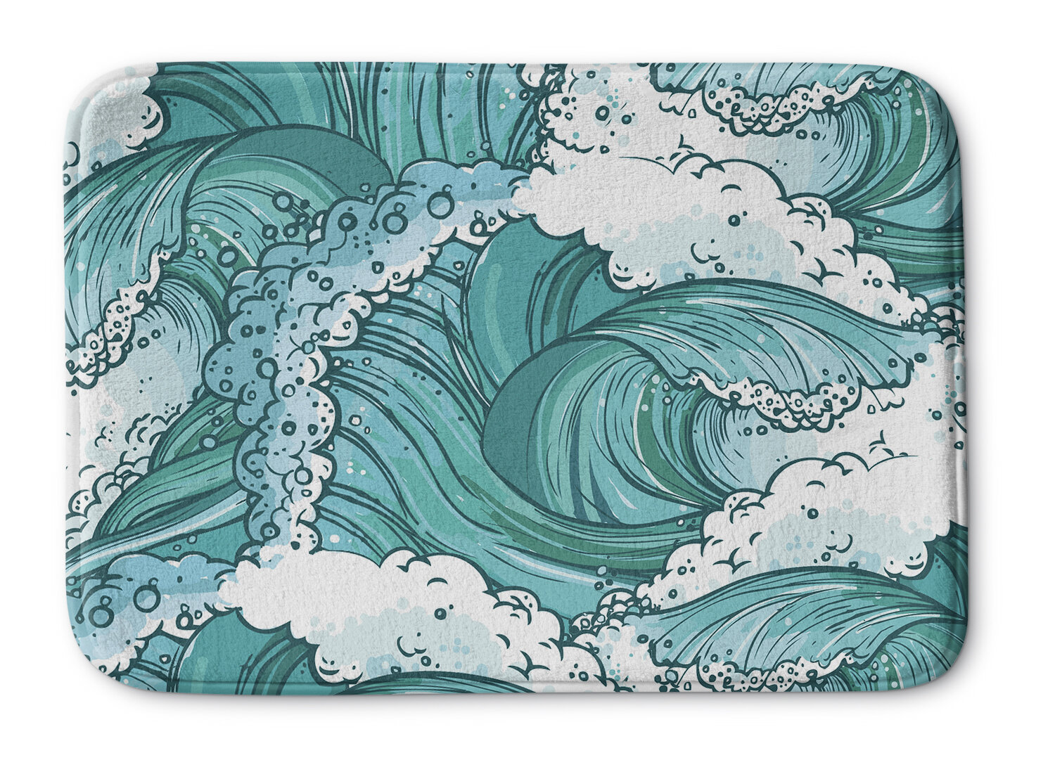 c5c4480b12d6 Rosecliff Heights Balsam Wave Memory Foam Bath Mat