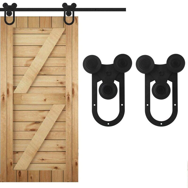 Vancleef Single Tri Horseshoe Sliding Barn Door Hardware Wayfair