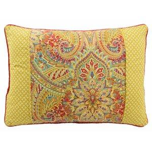 Swept Away Reversible Oblong Decorative Cotton Lumbar Pillow