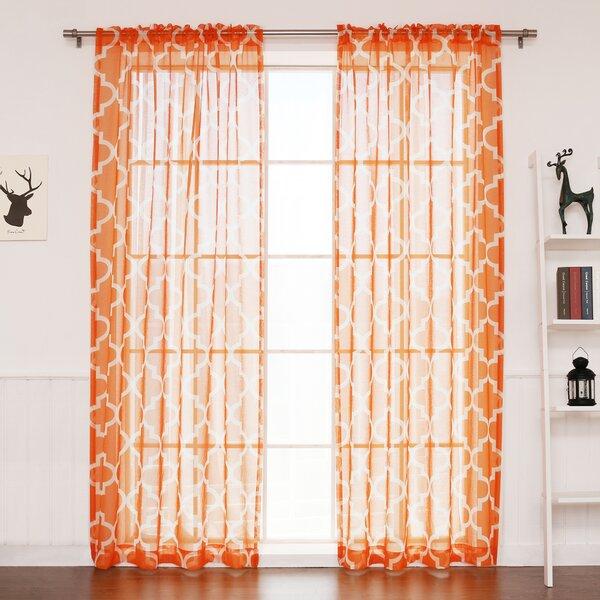 Best Home Fashion, Inc. Moroccan Geometric Sheer Rod Pocket Single Curtain  Panel U0026 Reviews | Wayfair